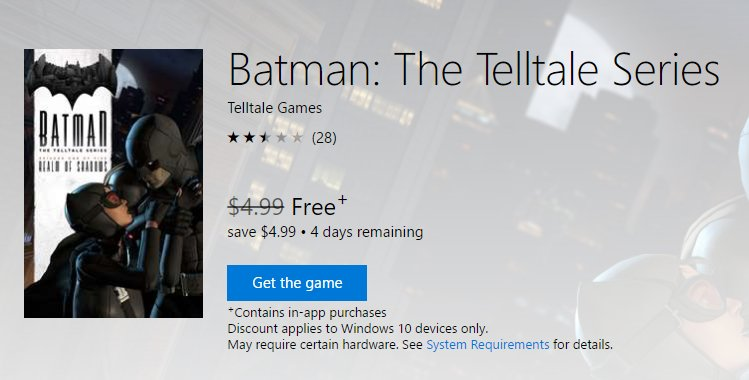 Batman: The Telltale Series бесплатно